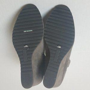 Crown Vintage Shoes - Crown Vintage Suede Wedge Booties